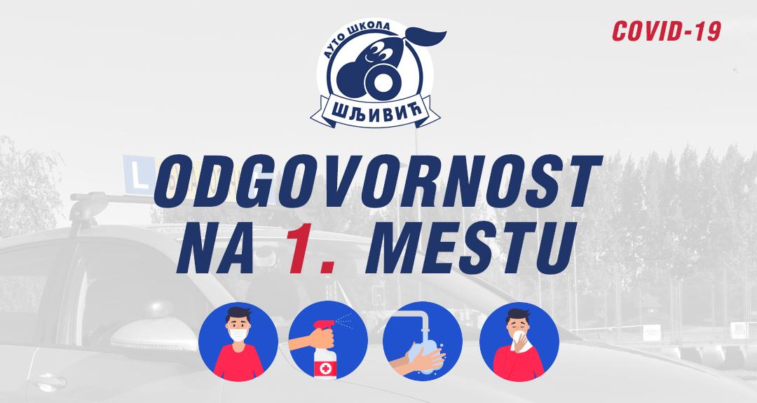 Auto škola Šljivić preduzela sve mere za bezbedno polaganje u toku pandemije